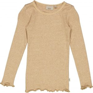 WHEAT Rib T-shirt Lace LS – Sand Melange